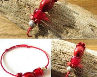 Waxed cotton bracelet waxed 16262