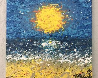 Beachside Splatter Painting