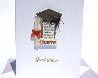 Daughters Graduation,  Sons Graduation Card, 3D Graduation Card, College Graduate, Graduation Card, Graduacion Tarjeta