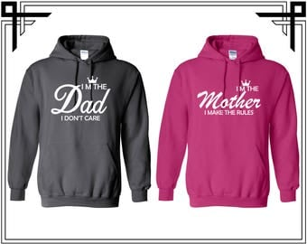 Im The Dad Im The Mother Couple Hoodie Sweatshirt Together Since Couple Hoodie Sweatshirt Couple Hoodie Couple Sweatshirt Gift For Couple