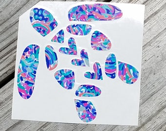 Large Lilly Inspired Sea Turtle Vinyl Decal