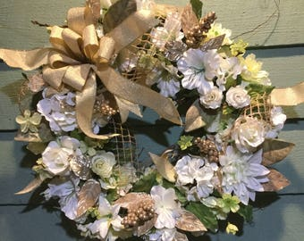 WHITE CHRISTMAS Holiday/Winter Wreath