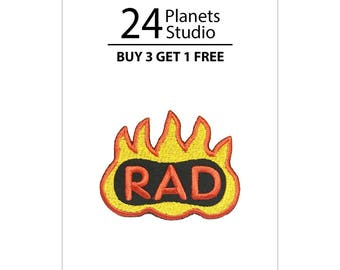 Mini Rad and Fire Iron on Patch by 24PlanetsStudio
