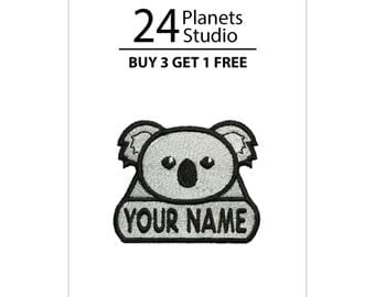 "Mini Koala ""Your Name"" Iron on Patch by 24PlanetsStudio"