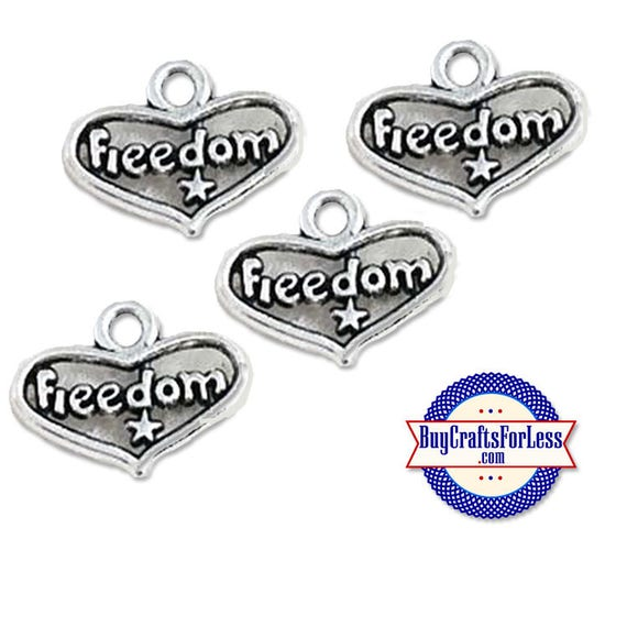 USA Freedom, USA Patriotic Charms, 6 pcs  +Discounts & FREE Shipping*