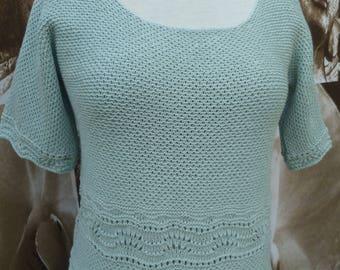 handmade knit soft color
