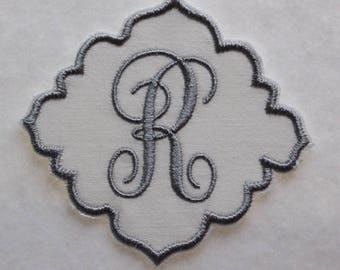 Initial Patch, Personalized Name Patch, Fabric Patch, Iron On Patch, Iron On Name, Personalized Embroidery Patch, Personalized Appliqué