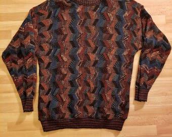 70s Retro Vintage Grandpa Sweater