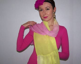 two-tone Bianchini Ferrier, uniq piece chiffon scarf