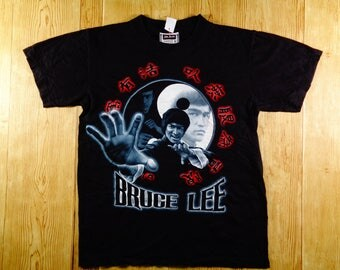 Vintage 90's Bruce Lee The Dragon Shirt Rare