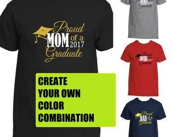 Proud Family Graduation Shirt | Proud Mom Shirt | Proud Dad | Proud Brother | Proud Sister | Proud Aunt | Proud Uncle | Graduation Shirt