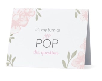It's My Turn to Pop the Question, Bridesmaid Proposal Card, Bridesmaid Proposal, WIll You be my Bridesmaid, Card for Bridesmaid