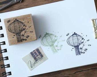 LIGHT Lantern Wood Mounted Rubber Stamp [Light008]
