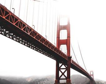 San Francisco Golden Gate Bridge Metallic Print