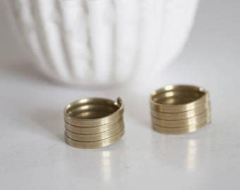 Adjustable ring in raw brass spring
