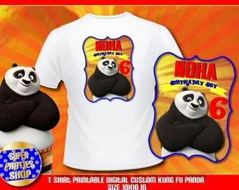 Kung Fu Panda  Digital  Printable t-shirt , Custom Party, Kung Fu Party  ,Birthday,Party, Supply, Kit, Pack, Custom,Po Birthday boy