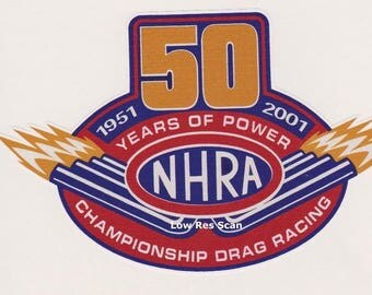 NHRA 50 Years Of Power 1961 - 2001 Sticker/Decal