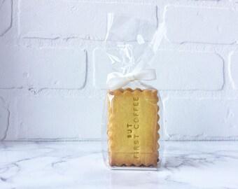 Sachet de 3 biscuits - message personnalisé
