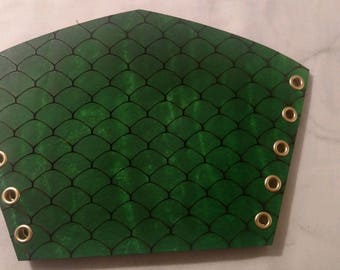 Green and Gold Dragonscale Bracers