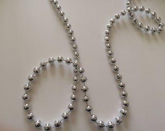 Bead Garland silver size 6 mm acrylic