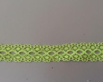 Ribbon lace Green 2 cm width color pistachio Green