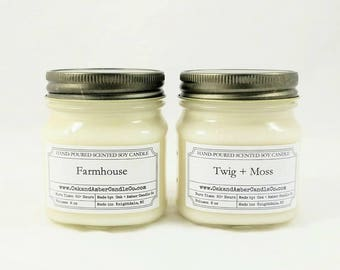 Pick 2 Mason Jars | Soy Candle | Scented Candle | Gift Set | Custom Gift