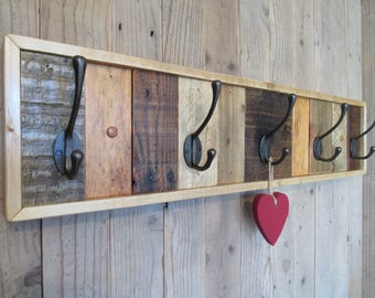 wood coat rack etsy. Black Bedroom Furniture Sets. Home Design Ideas