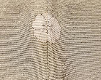 New - Summer One Crest Shoken Silk Homongi Kimono - Spring Green