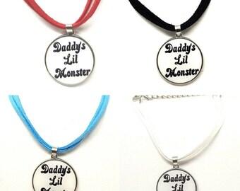 BDSM DDLG Harley Quinn Suicide Squad inspired Daddy's Lil Monster Pudding Bracelet or Anklet for Cosplay Fancy Dress
