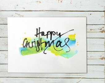 Christmas card - handwritten communication