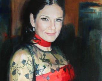 Custom Painting on canvas, Custom Portrait, Commission Portrait Painting from photo, Custom oil on canvas, Commission portrait, luxury gift