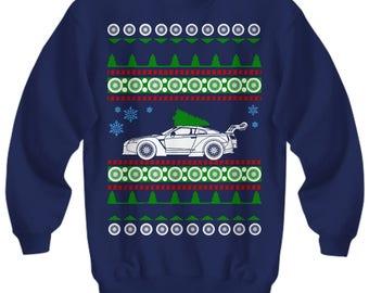 nissan gtr r35 skyline ugly christmas sweater shirt xmas gift jdm race car godzilla turbo boosted
