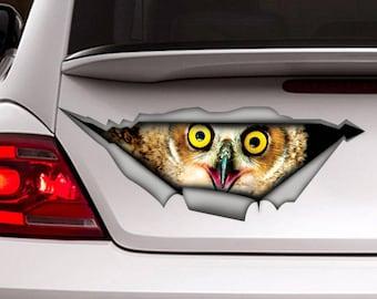 Owl Etsy - Owl custom vinyl decals for car