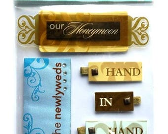 Stickers 3D honeymoon 19.5 x 11.5 cm creative cardmaking scrapbooking