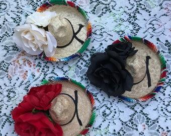 Fiesta headband, serape hairclip, Mexican headband, sombrero headband, day of the dead headband, cinco de mayo, fiesta party favor