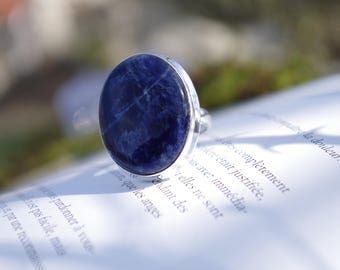 Sodalite ring size 54-55 (6.75 US & US 7)