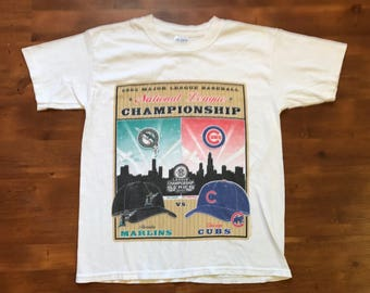 03' MLB National league championship Marlins Vs. Cubs kids youth large