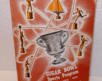 Sugar Bowl Sports Program (Souvenir Program) Saturday,  December 29, 1951..Boxing, Regatta, Track, Basketball, Tennis