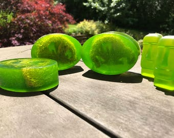 Margarita Lime Glycerin Soap With Loofah