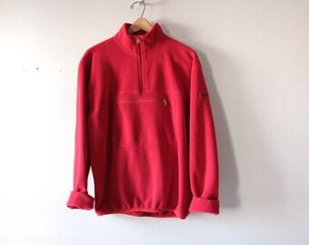 Vintage Polo Sport red fleece Polertec