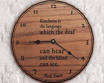 Popular Quotes - Famous Quotes - Best Quotes - Kindness is the language which the deaf can hear and the blind can see - Mark Twain