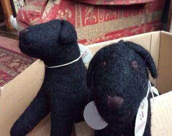 Cute Felt Black Labrador - Hand made.