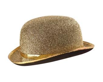 Gold bowler Hat