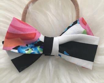 nylon baby headbands, nylon headbands, mini bow headband, infant headband, newborn headband, baby girl headbands, nylon headbands baby, girl