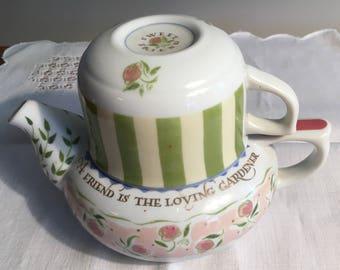 Flora Bella Teapot and Cup