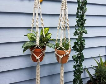 Macrame plant hanger, boho decor, bohemian, rustic, cottage chic, boho chic, planter