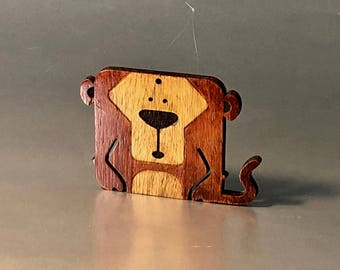 Little Monkey ornament - finished wood // laser cut // Monkey // (LM1) // ornaments // Home decor