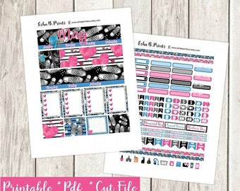 Mini Me Dark Son Printable Planner Stickers/Weekly Kit/ For Use with Erin Condren/Fall Mothers Day Monthly Kit Son Birthday Mom Glam