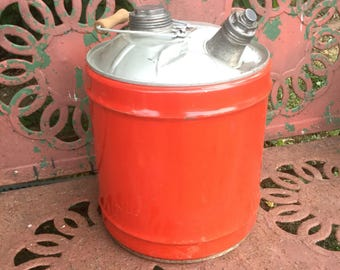 Adorable 5 Gallon Metal Can with Spout and Handle