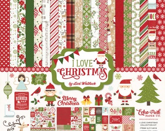 I Love Christmas Kit - Echo Park Paper